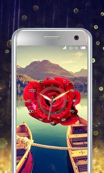 Rose Flower Clock screenshot 1