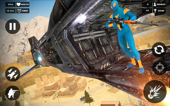 Rope Superhero vs Gangster Sniper Shooting 3D screenshot 8