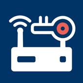 إعداد مسؤول جهاز التوجيه: كلمات مرور جهاز التوجيه أيقونة