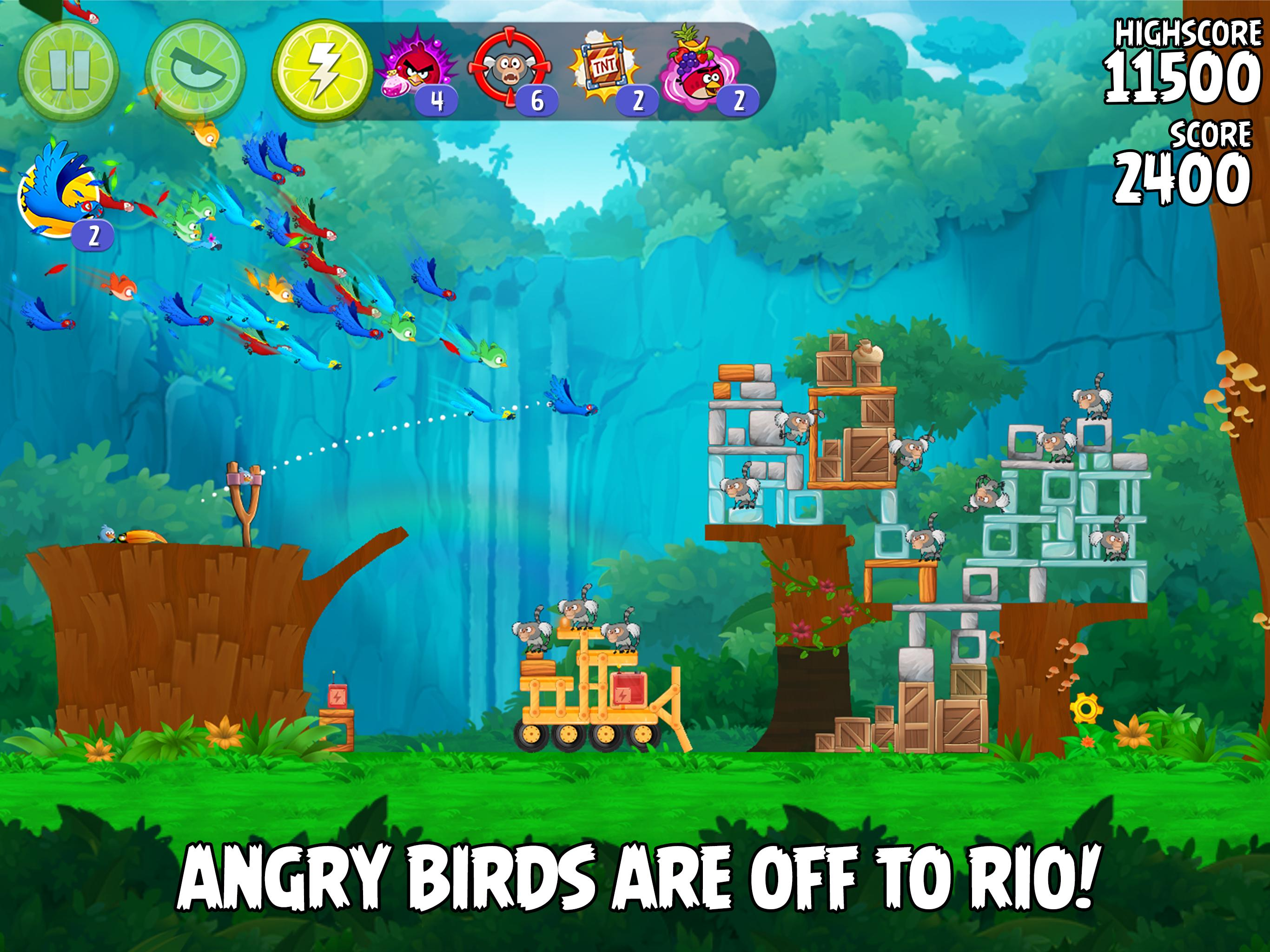 angry birds rio game for free