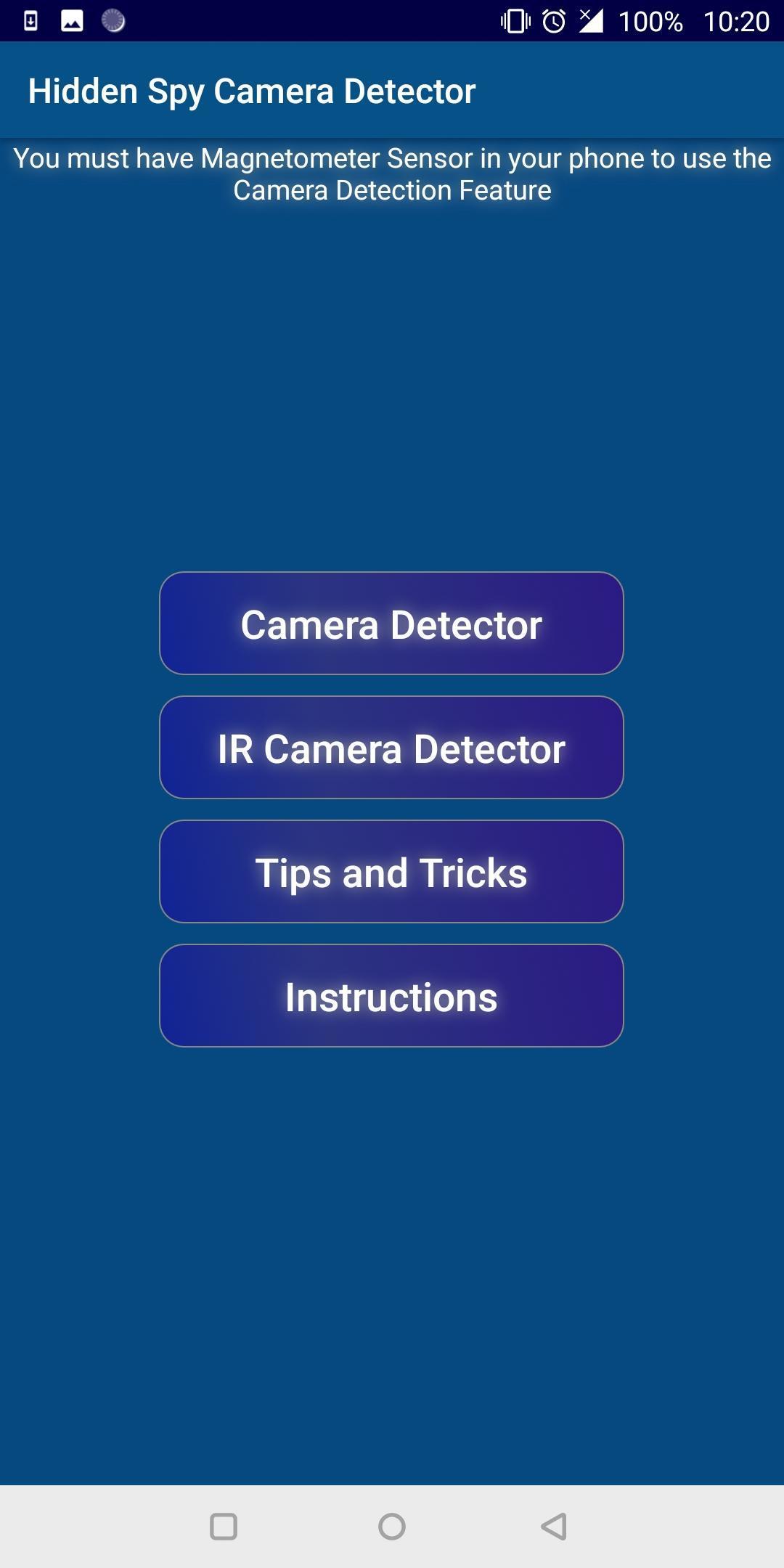 Detect Bug -Camera Microphone Bug Detector Scanner for