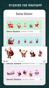 Santa Sticker For Whatsapp poster