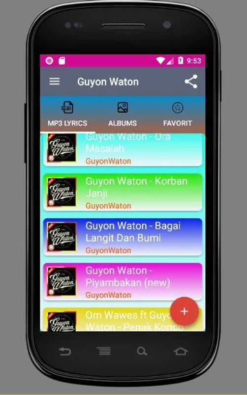 50 Guyon Waton Full Album Mp3 Plus Lirik For Android Apk Download