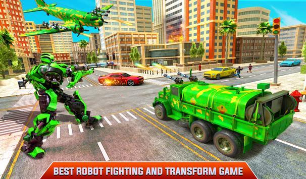 Flying Dragon Robot Army Truck Transforming Games screenshot 9