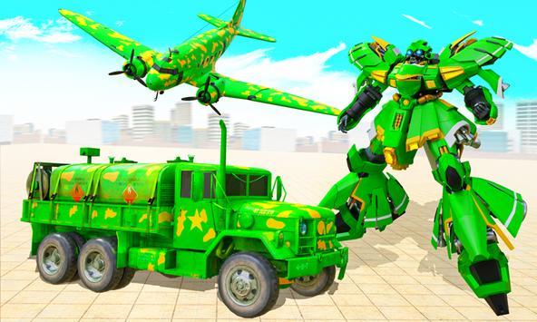Flying Dragon Robot Army Truck Transforming Games screenshot 1