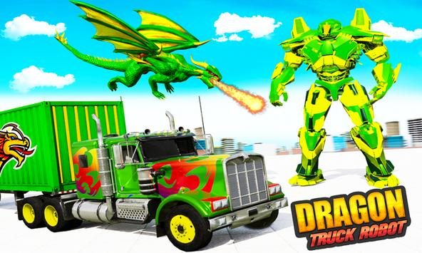Flying Dragon Robot Army Truck Transforming Games poster