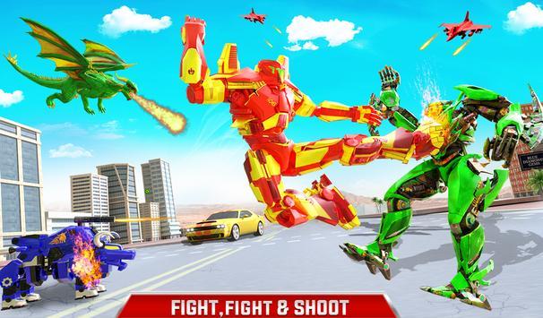 Flying Dragon Robot Army Truck Transforming Games screenshot 11
