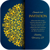 Invitation card maker free & Greeting cards design icon