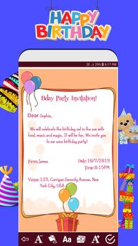 Invitation card maker free & Greeting cards design poster