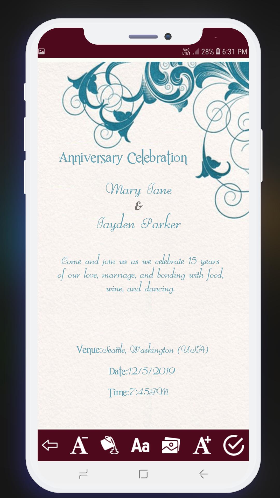 Invitation Card Maker Free Greeting Cards Design For