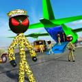 Stickman Army Transporter Airplane Cargo