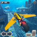 Underwater Racing Motorbike Flying Stunts