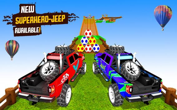 Superhero Jeep Offroad Racing: Superkids Drive 3D poster