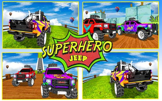 Superhero Jeep Offroad Racing: Superkids Drive 3D screenshot 4