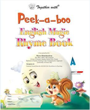 Peek-a-boo English Magic Rhyme-A New poster