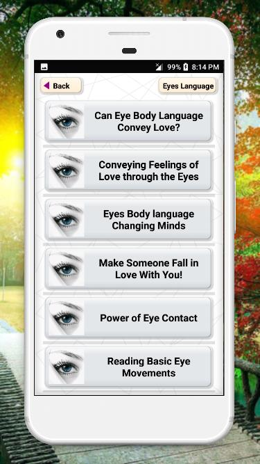 Eye Language and Eye contact mind reader for Android - APK