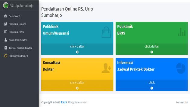 Pendaftaran Online RS. Urip Sumoharjo screenshot 4