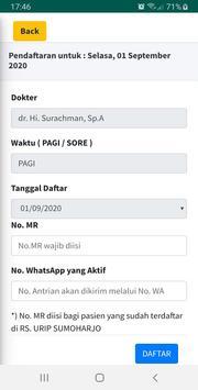 Pendaftaran Online RS. Urip Sumoharjo screenshot 3