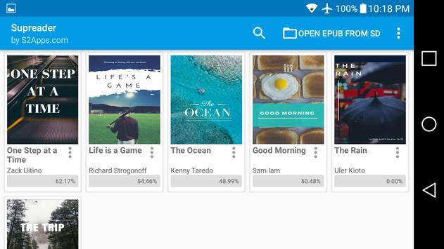 ePUB Leitor de Livros Supreader.com imagem de tela 14