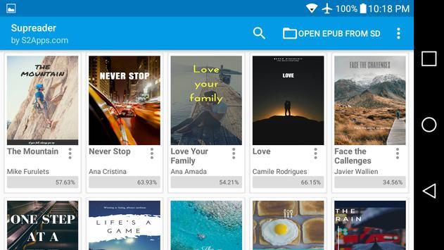 ePUB Leitor de Livros Supreader.com imagem de tela 11