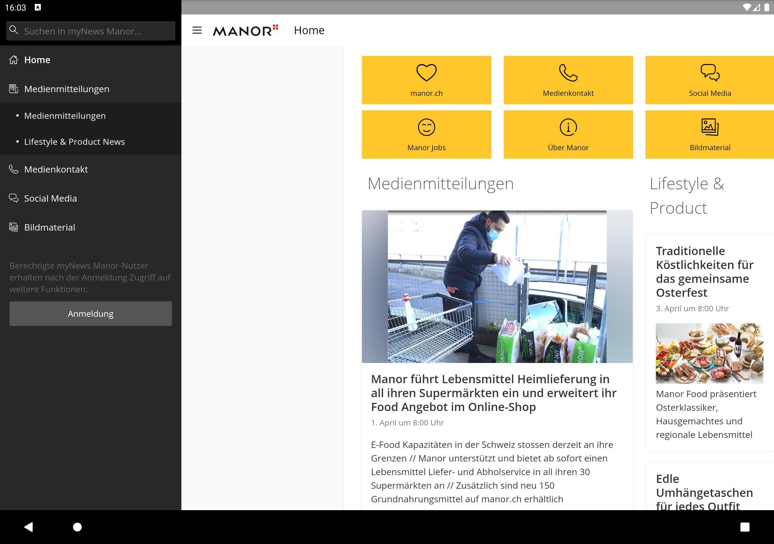 myNews Manor für Android   APK herunterladen