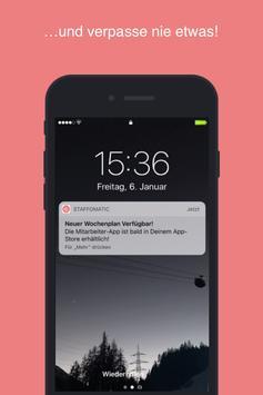 STAFFOMATIC - die App für Mitarbeiter ảnh chụp màn hình 5