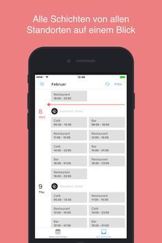 STAFFOMATIC - die App für Mitarbeiter ảnh chụp màn hình 3