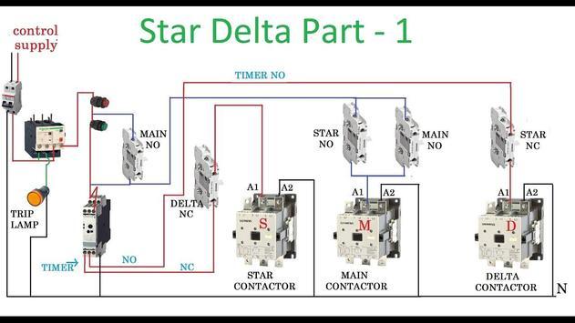 star delta wiring diagram for android apk download. Black Bedroom Furniture Sets. Home Design Ideas