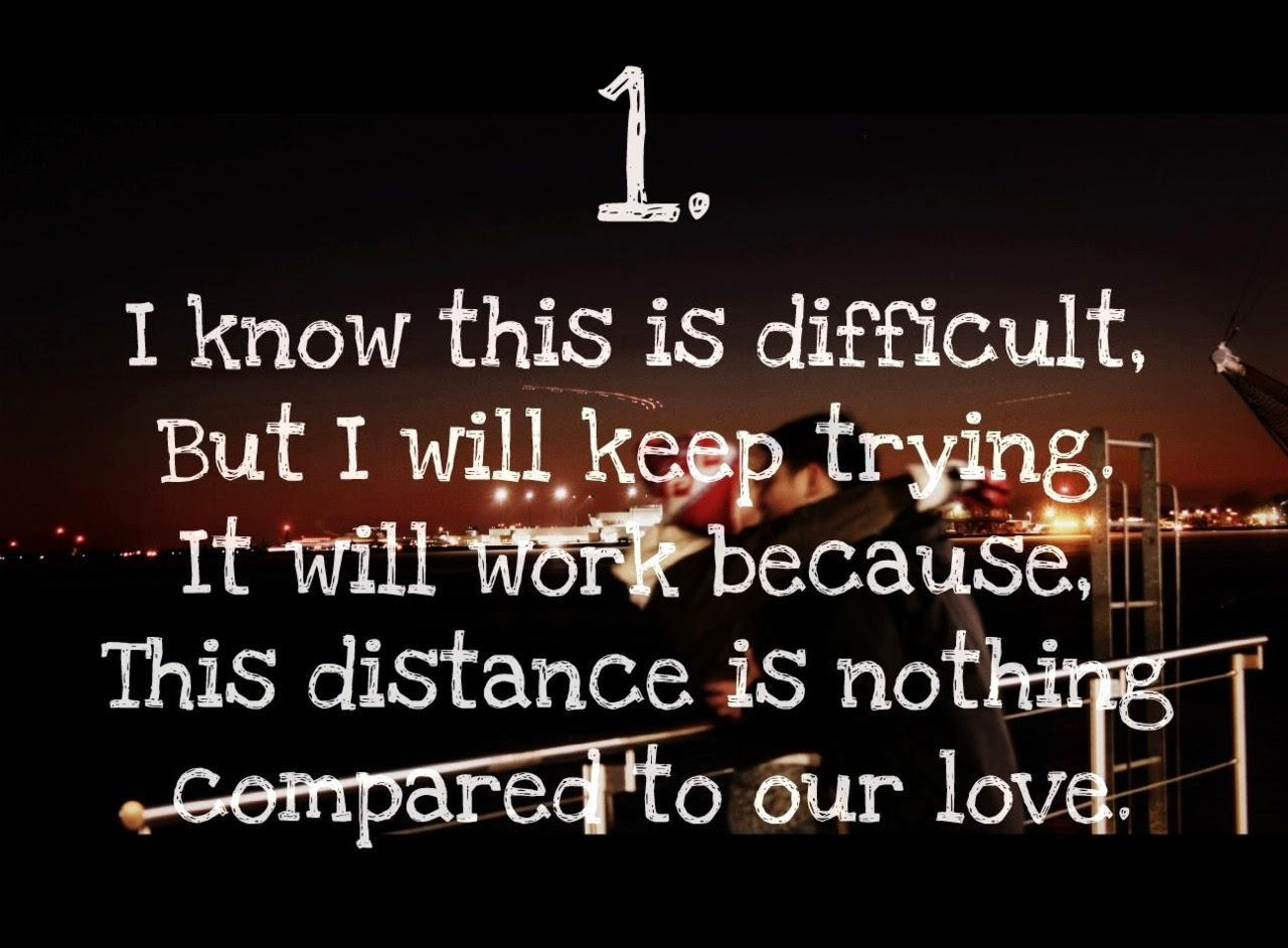 Love quotes for long distance relationship english