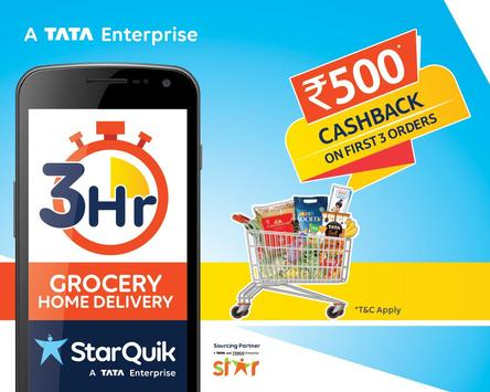 StarQuik, a TATA enterprise - Order Grocery Online पोस्टर