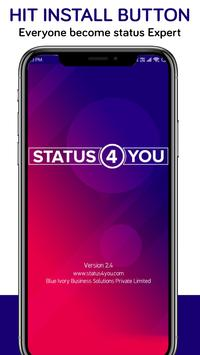 Status 4 You Hindi English Cartaz