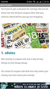 18 Best Coupon Sites for Saving screenshot 1