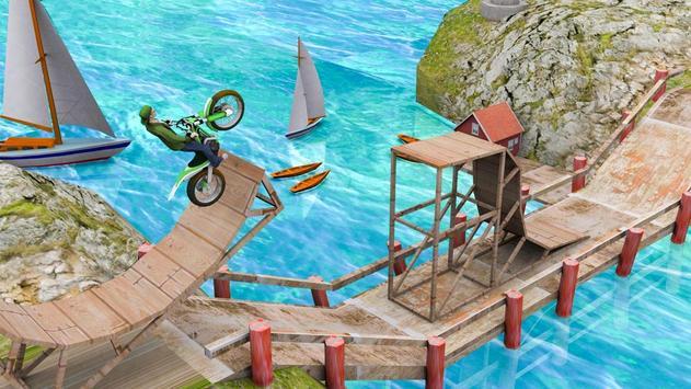Poster acrobazie bicicletta corsa gioco di prova trucchi