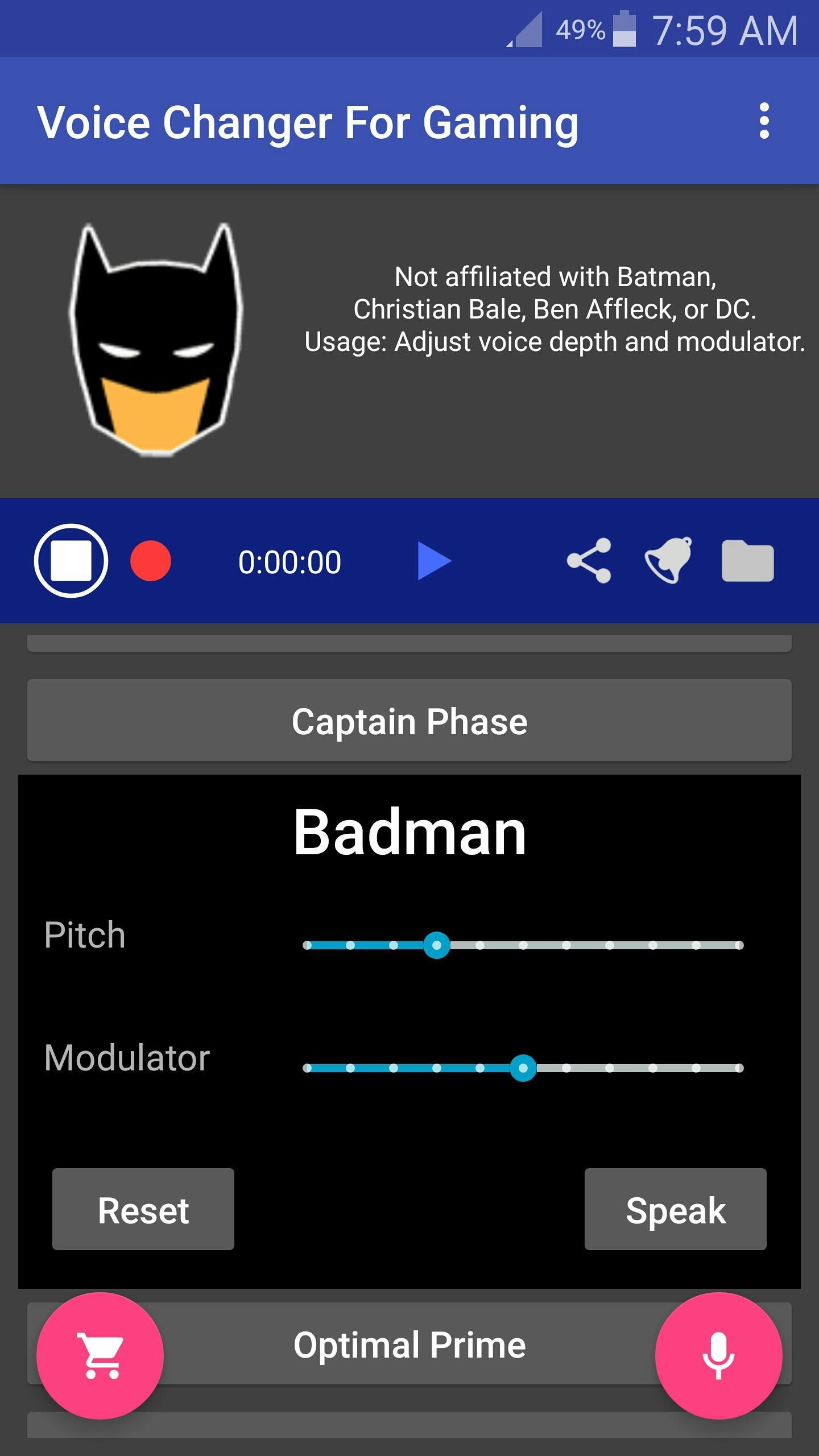 Voice Changer Mic for Gaming - PS4 XBox PC for Android - APK