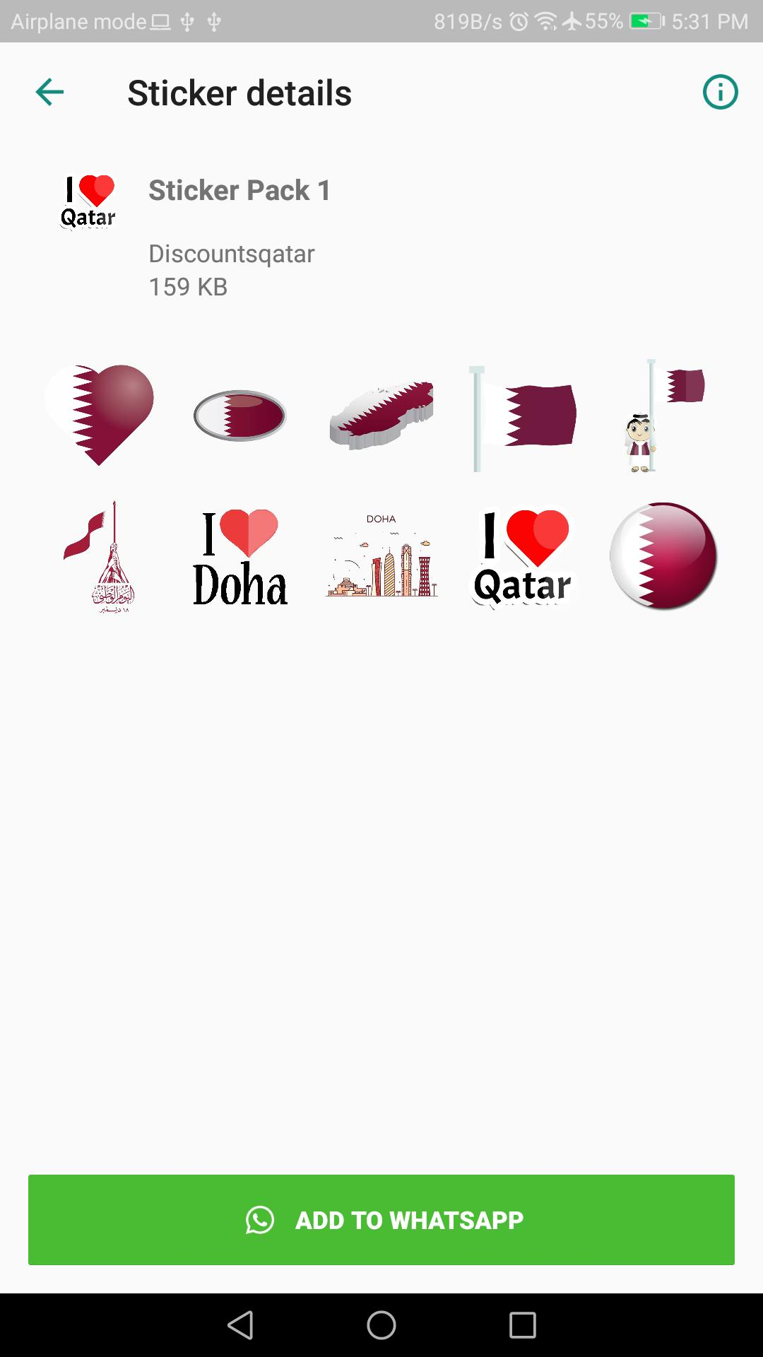 Qatar WhatsApp Stickers for Android - APK Download