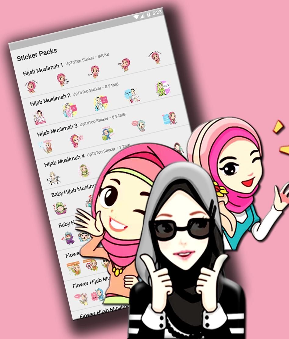 Hijab Muslimah Sticker For Whatsapp Islam Sticker For Android