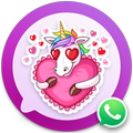 Unicorn Cute Stickers for WhatsApp