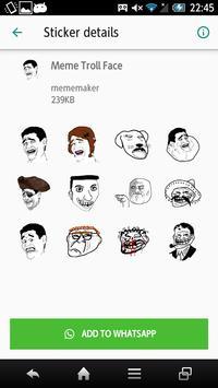 Meme Stickers Packs - Troll Face Icon screenshot 1