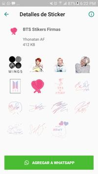 BTS Stickers KPop para Whatsapp screenshot 2