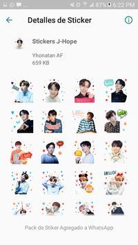 BTS Stickers KPop para Whatsapp screenshot 3