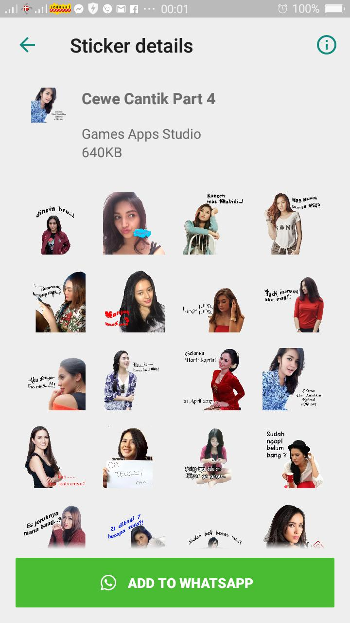 Sticker Cewek Cantik Wastickerapps For Android Apk Download