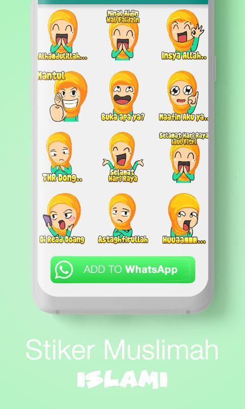 Stiker Wa Cute Islam For Whatsapp Wastickerapps For Android