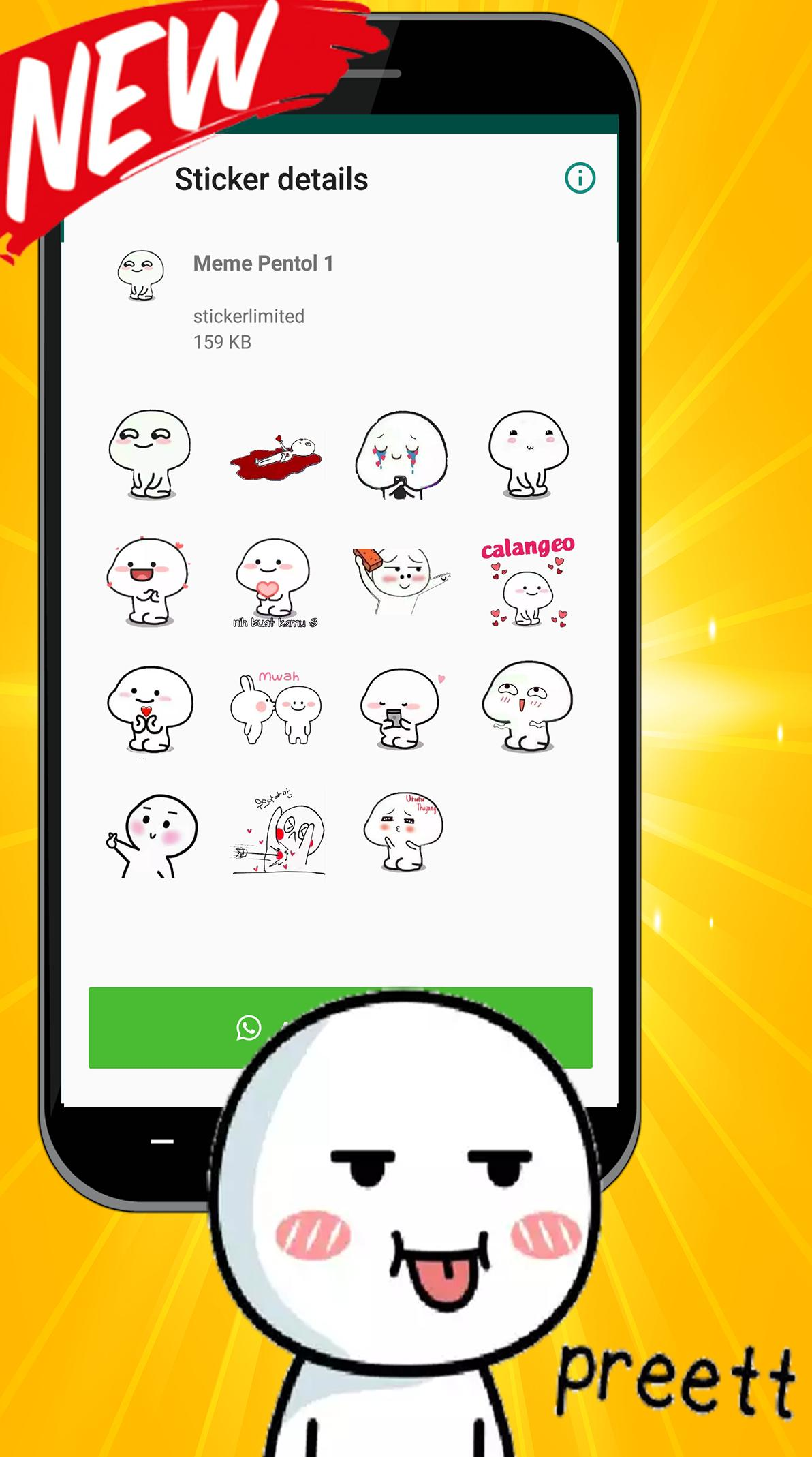 Meme Sticker Pentol Lucu For Wastickerapps For Android Apk Download