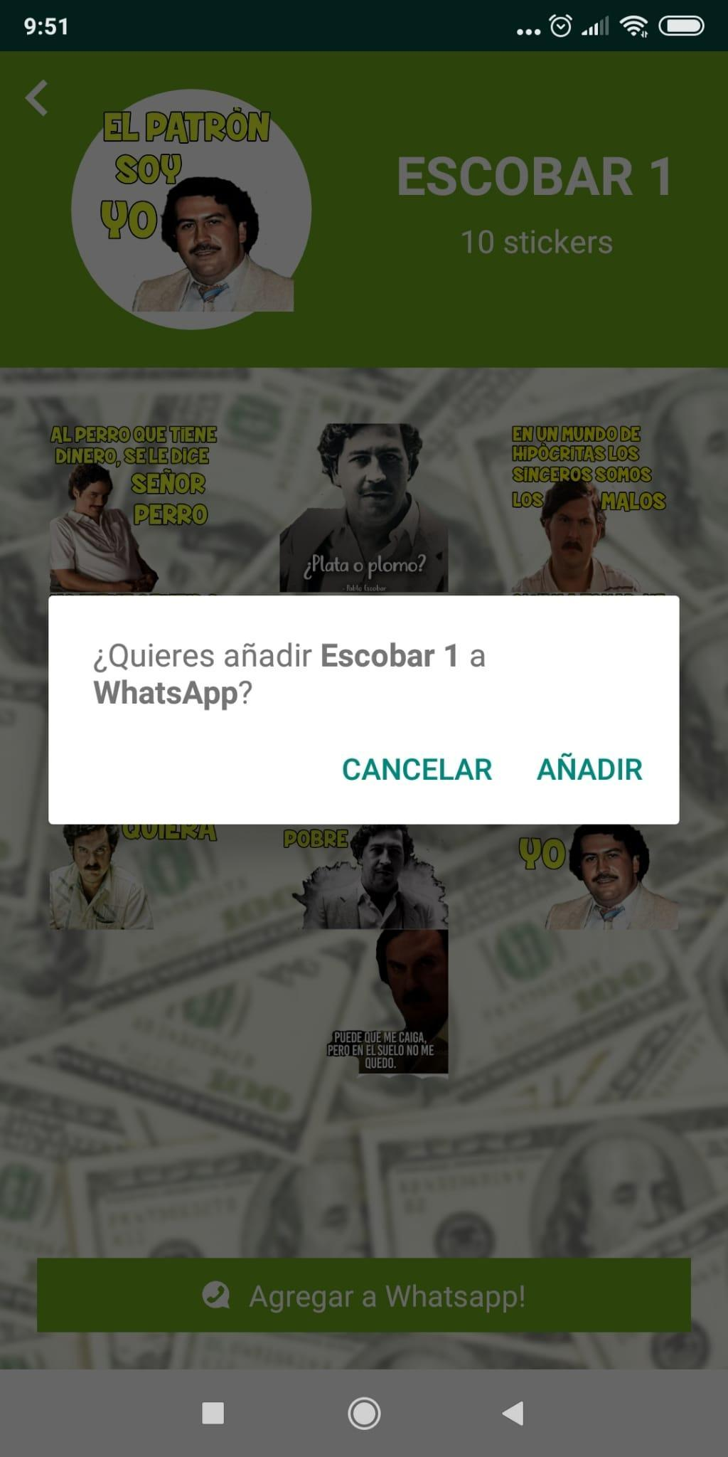 Wastickers Escobar Meme Stickers App Für Android Apk