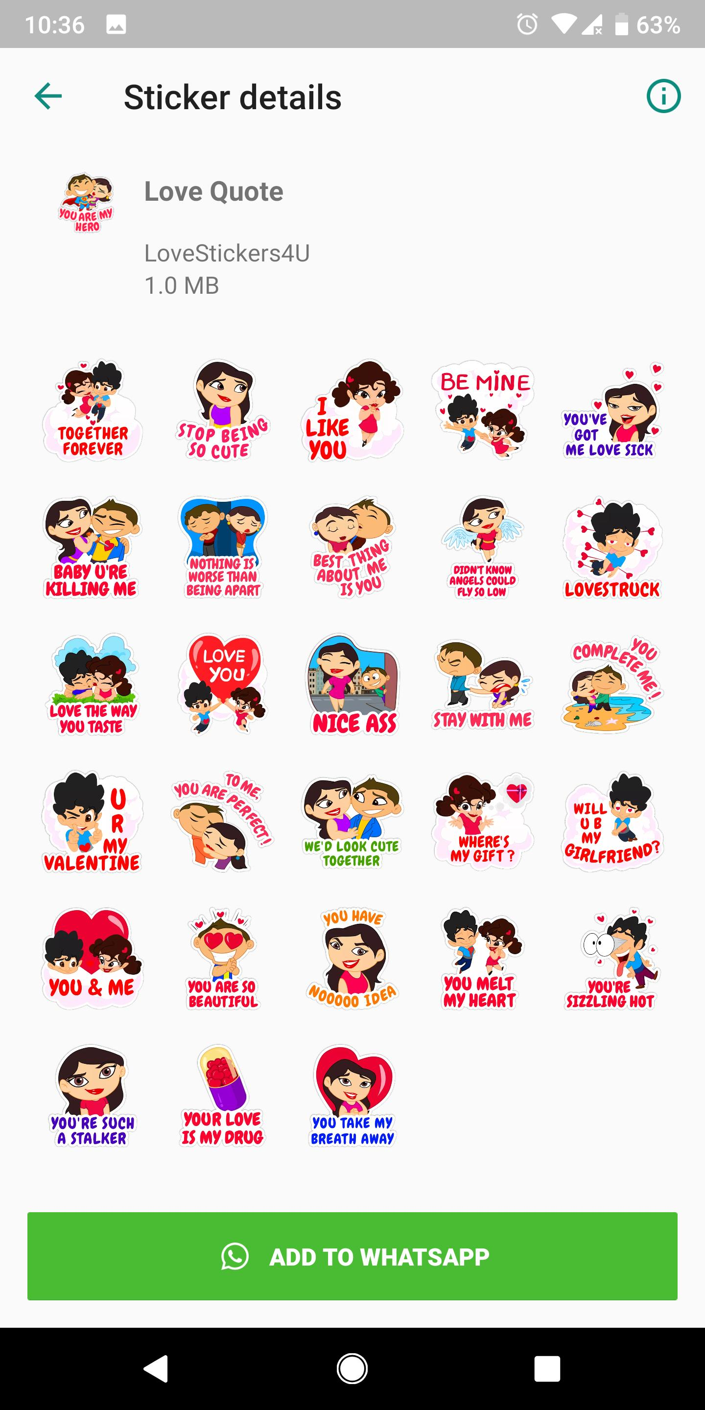 Free Love Sticker Packs For WA. Hot WA Stickers for Android   APK ...
