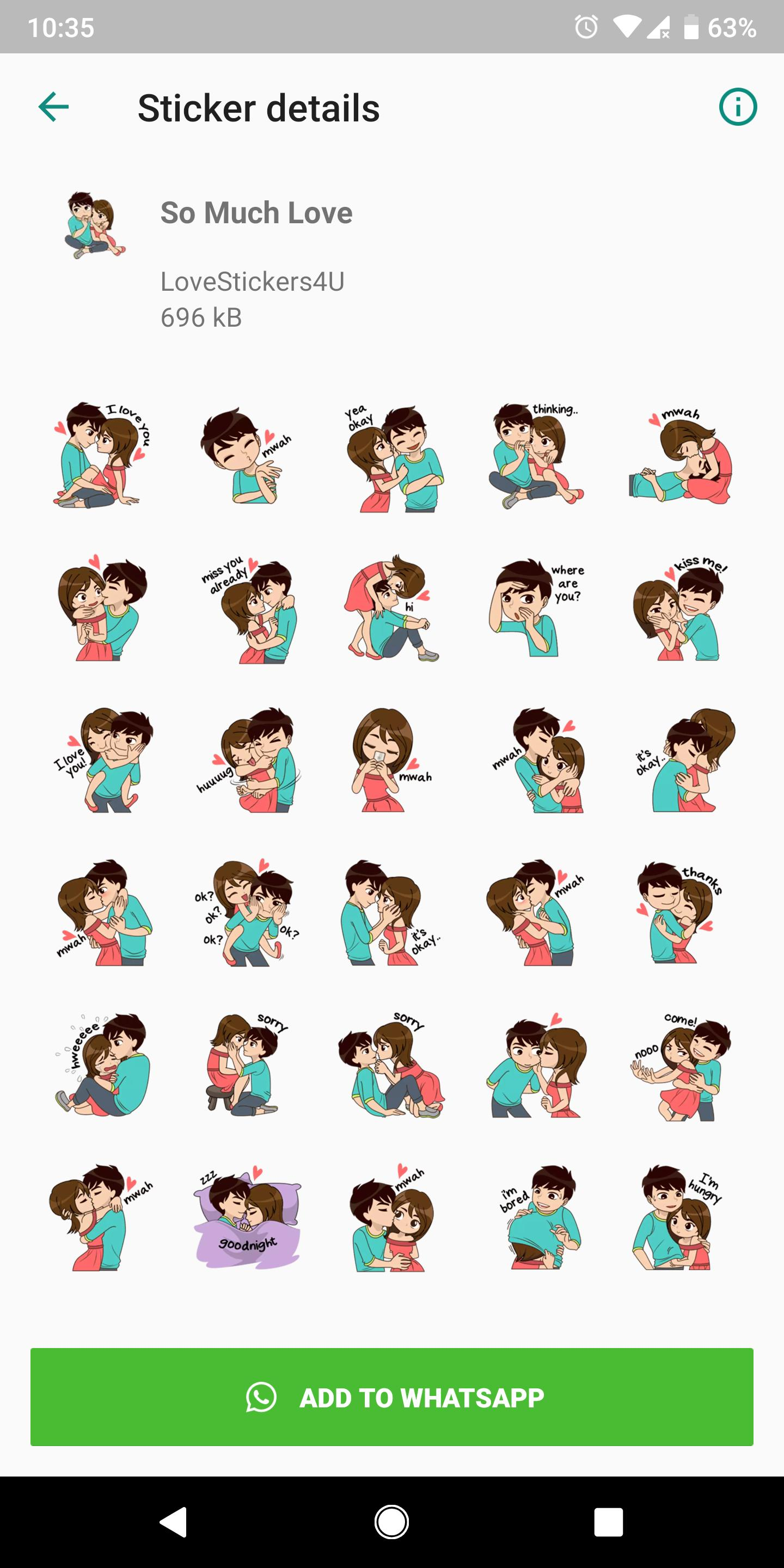 Free Love Sticker Packs For Wa Hot Wa Stickers For Android Apk