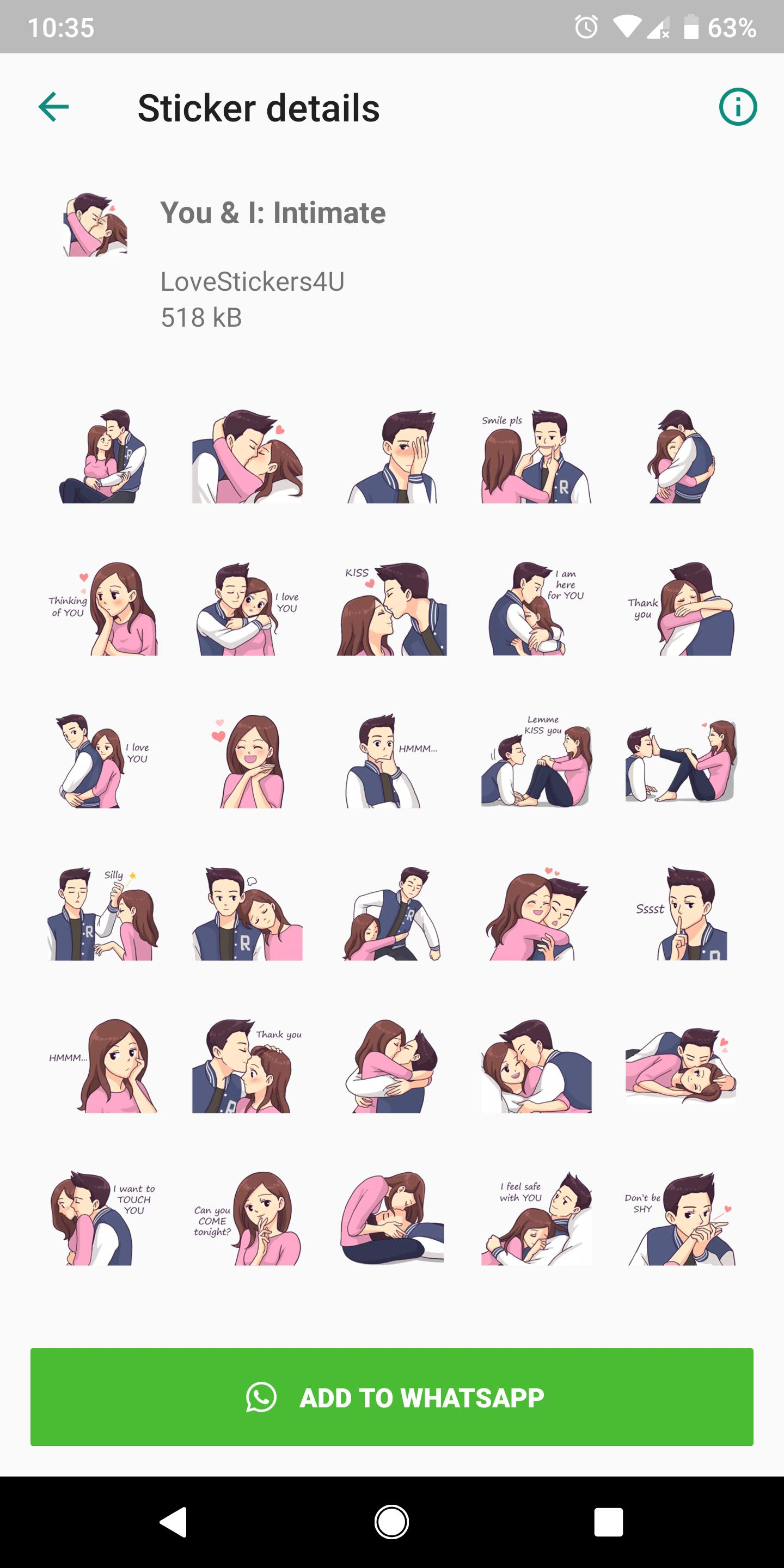 Free Love Sticker Packs For Wa Hot Wa Stickers For Android