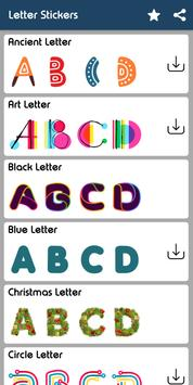 Letter WAStickerApp - Letter Stickers for Whatsapp poster