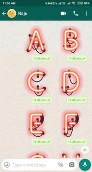 Letter WAStickerApp - Letter Stickers for Whatsapp screenshot 14