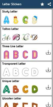 Letter WAStickerApp - Letter Stickers for Whatsapp screenshot 16